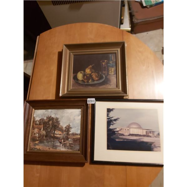 3 Assorted Paintings/Pictures Artists - Unknown Sizes - Unknown