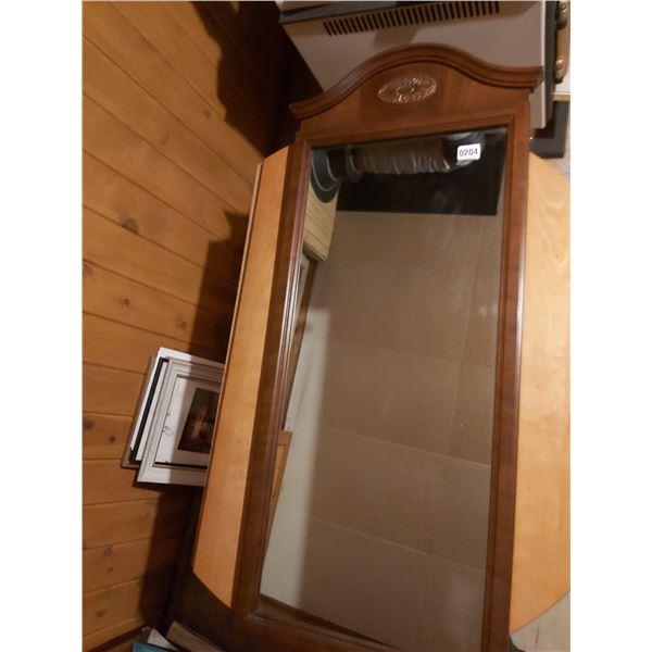 """Wooden Frame Mirror 18""""W x 44.5""""H"""