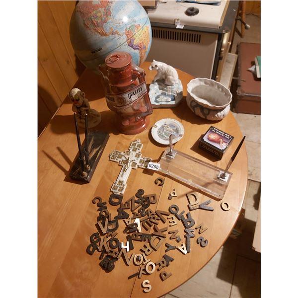 Assorted Home D'cor - Globe, Pen Holders, Lantern, Metal Lettering