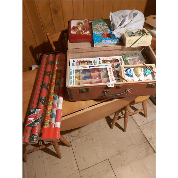 Vintage Suitcase and Christmas d'cor