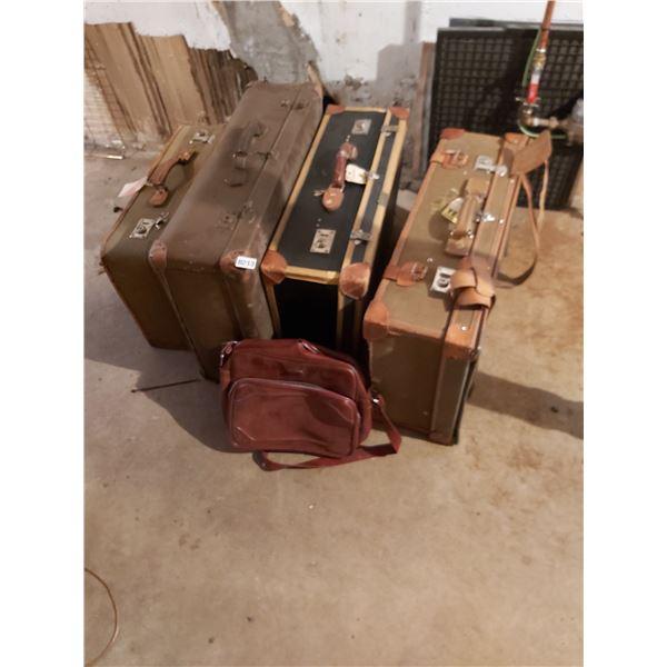 5 Piece Vintage Luggage