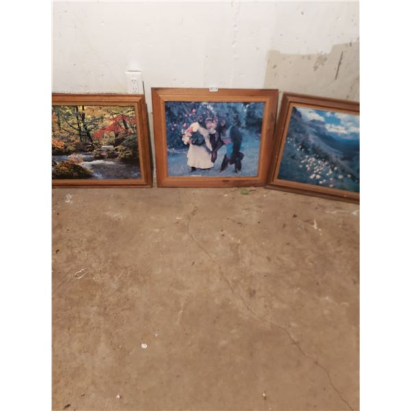 "3 Pictures - Artist Unknown - 24""W x 20""H"