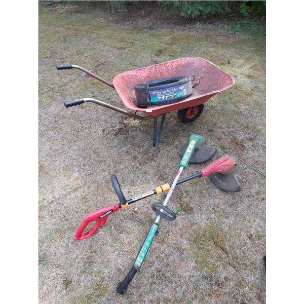 Wheelbarrow & Whipper Snippers