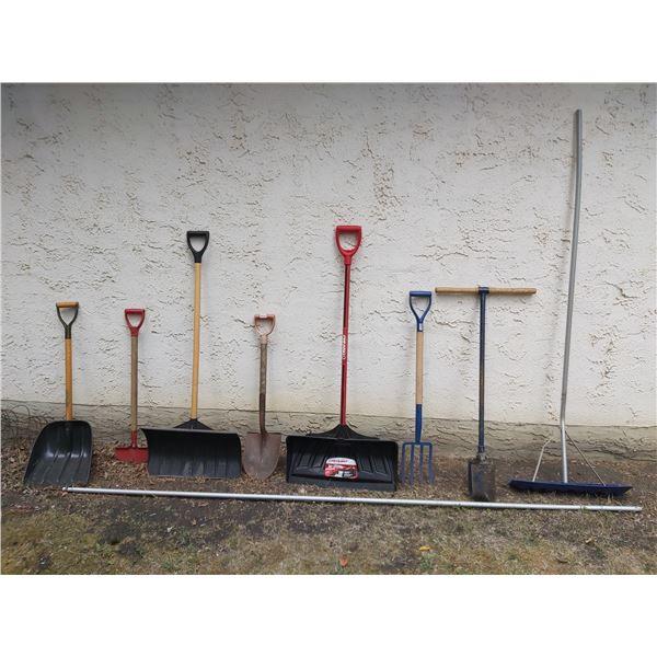 Hole Digger - Shovels - Roof Scraper - Pitch Fork