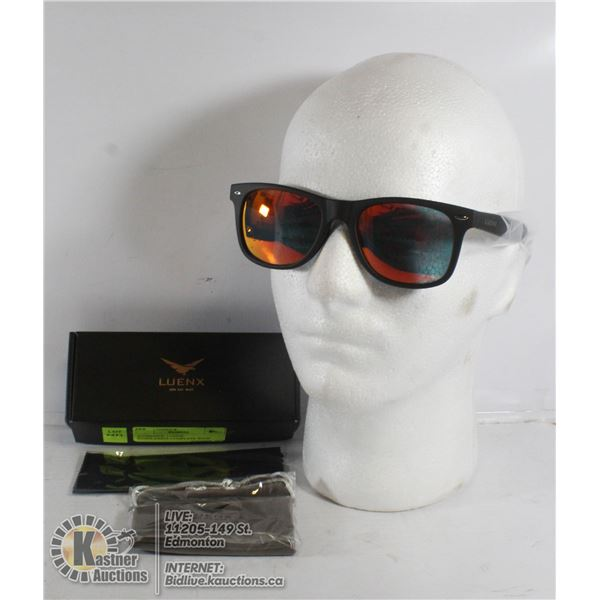 AUTHENTIC LUENX SUNGLASSES-COMPLETE WITH CARRY