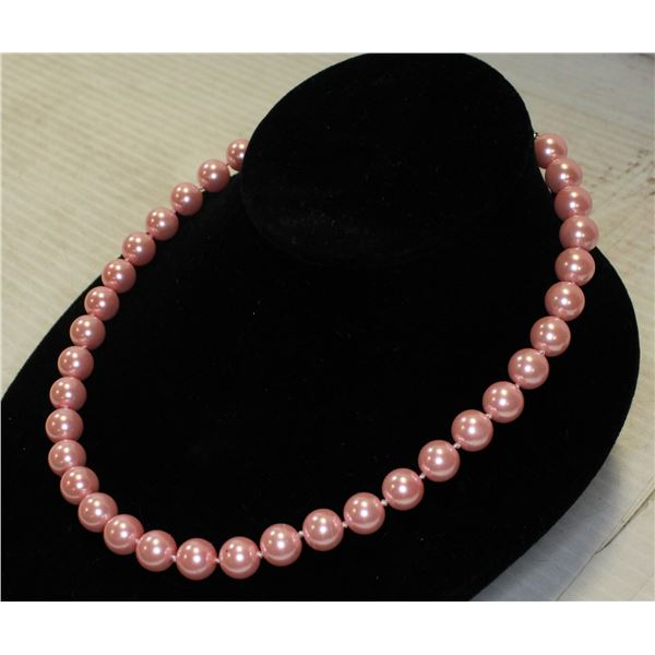 """#17-SEA SHELL PEARL NECKLACE 18""""/ 10mm"""