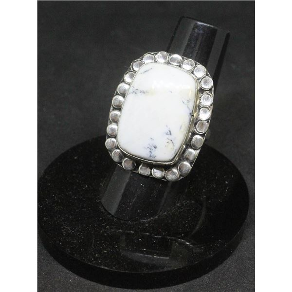 #117-DENTRIC OPAL RING SIZE 7