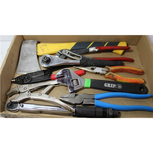 FLAT OF TOOLS AND HATCHET