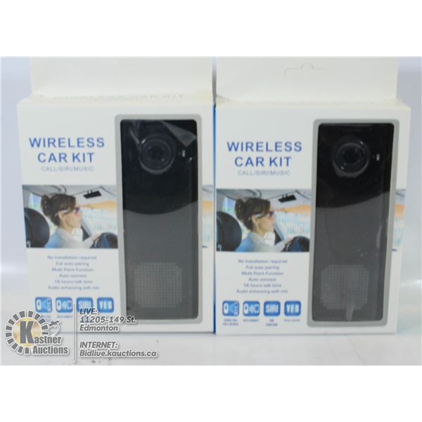 2 X WIRELESS CAR KIT-CALL/SIRI/MUSIC