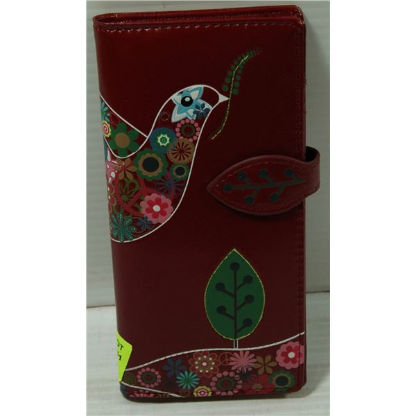 FULL SIZE RED WALLET