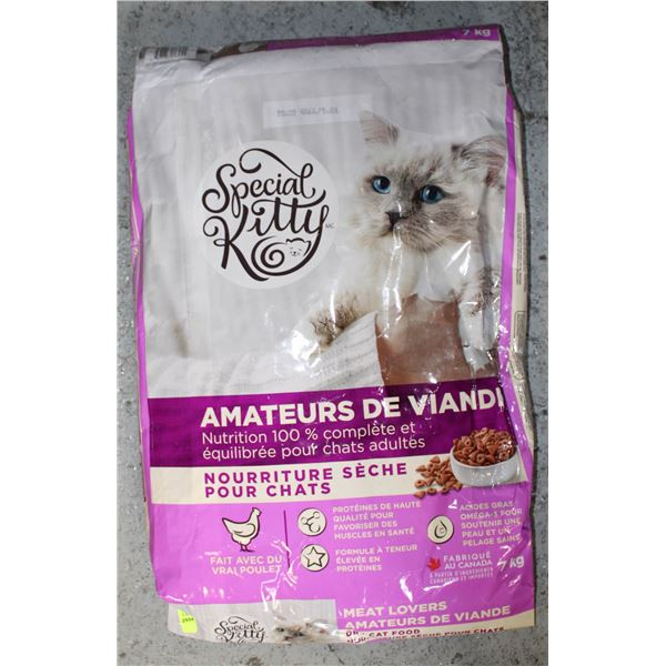 SPECIAL KITTY 7KG CAT FOOD.