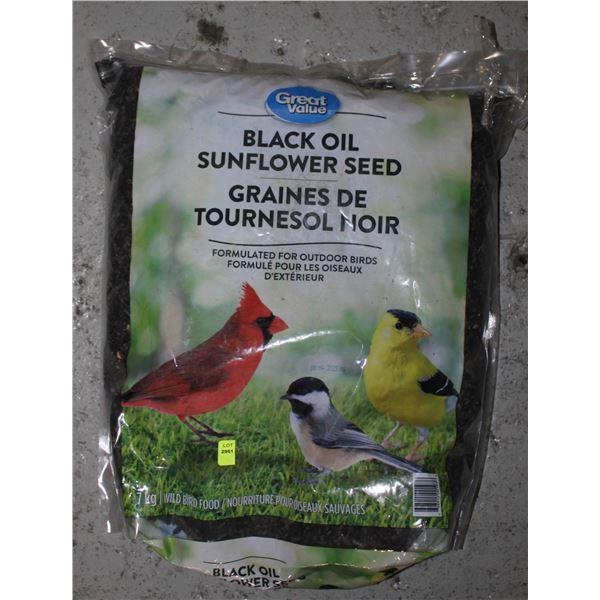 BAG OF BLACK OIL SUNFLOWER SEED 7KG