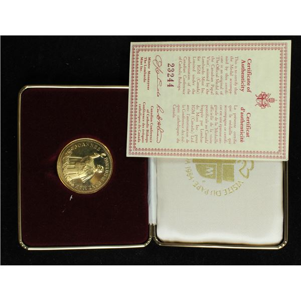 1984 PAPAL VISIT MINT STRUCK COIN IN NUMBERED