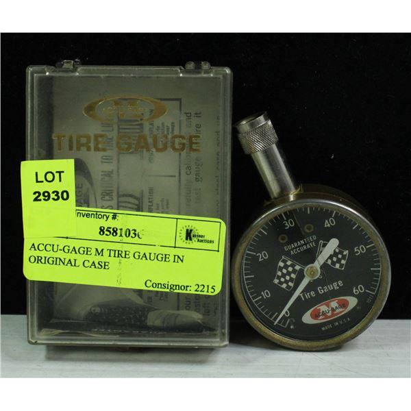 ACCU-GAGE M TIRE GAUGE IN ORIGINAL CASE