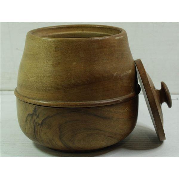 BETUL HANDMADE WOOD COOKIE JAR