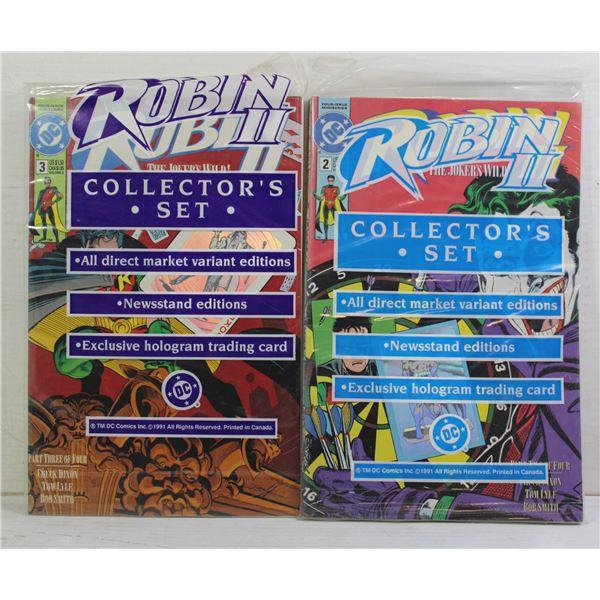 2 X SEALED ROBIN COMIC SETS
