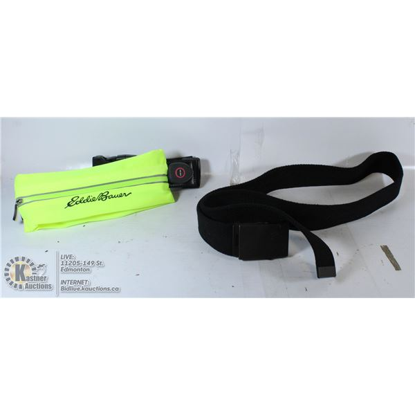 EDDIE BAUER LIGHT-UP RECHARGEABLE WAISTBET AND