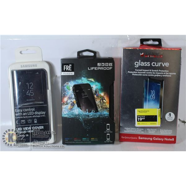 IPHONE LIFEPROOF,SAMSAUNG SMART CASE AND MORE