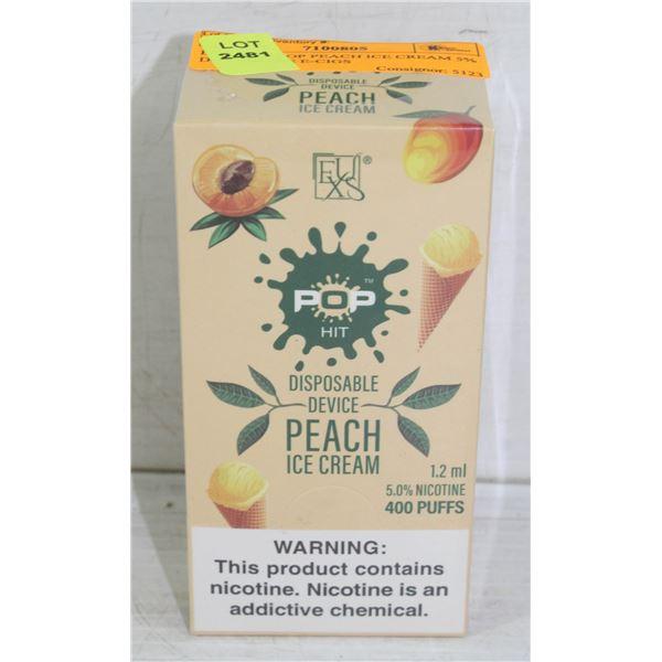 BOX W/10 POP PEACH ICE CREAM 5% DISPOSABLE E-CIGS