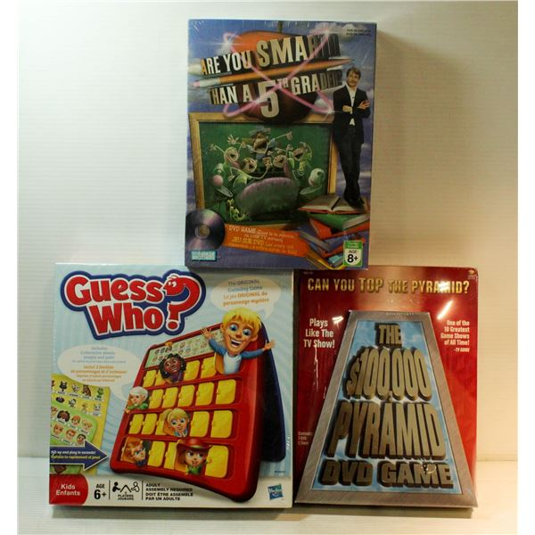 SEALED 3 GAMES GUESS WHO ORIGINAL