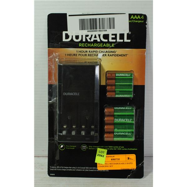 DURACELL RECHARGEABLE RAPID CHARGING SET