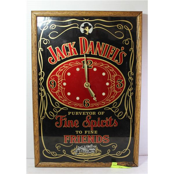 JACK DANIELS CLOCK(STANFORD ART)PURVEYOR OF FINE