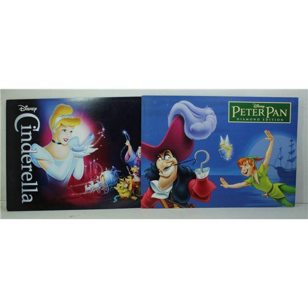 LOT OF 2 PRINT SETS PETER PAN AND CINDERELLA