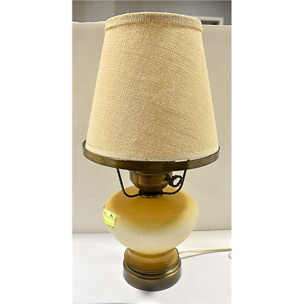 """LAMP APPROX 15"""" TALL LIGHTS UP ON THE BOTTOM + TOP"""
