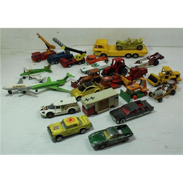 BOX OF VINTAGE CARS