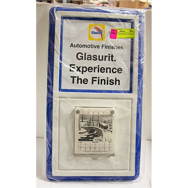 GLASURIT ADVERTISING CALENDAR