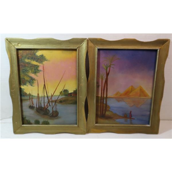 2 ARTWORKS DATED 1922 AB ARTIST