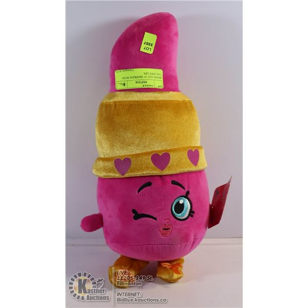 """MOOSE TOY 15"""" SHOPKINS WITH TAG LIPPY LIPS"""