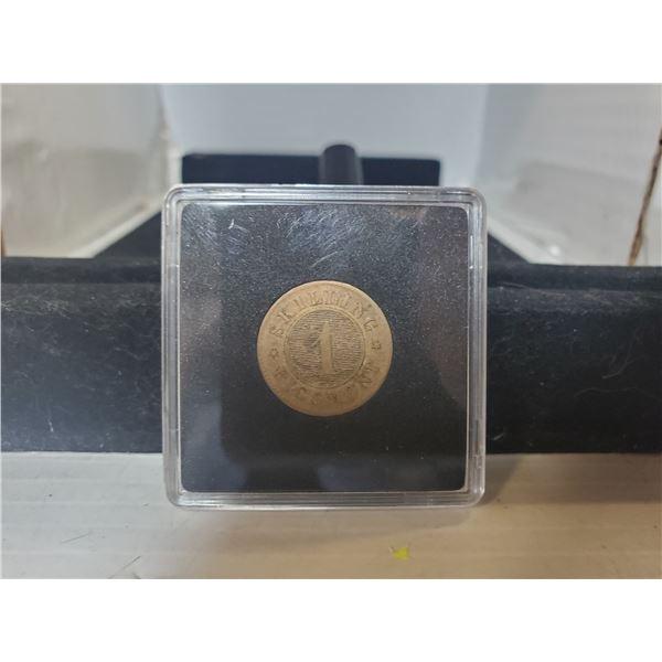 HIGHER GRADE DENMARK 1860 1 SKILLING