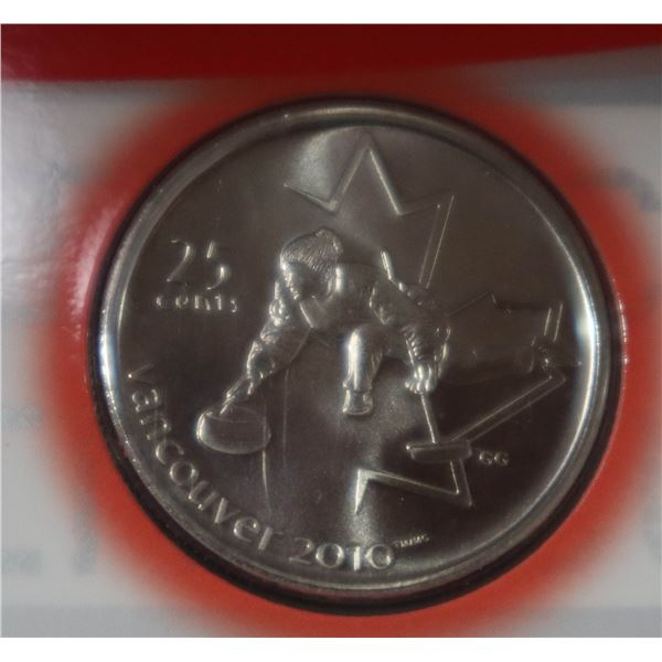 2010 VANCOUVER OLYMPIC FIRST DAY OF ISSUE 25 CENT