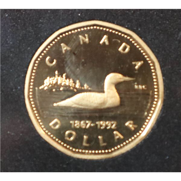 1992 PROOF FINISH CANADA LOON DOLLAR