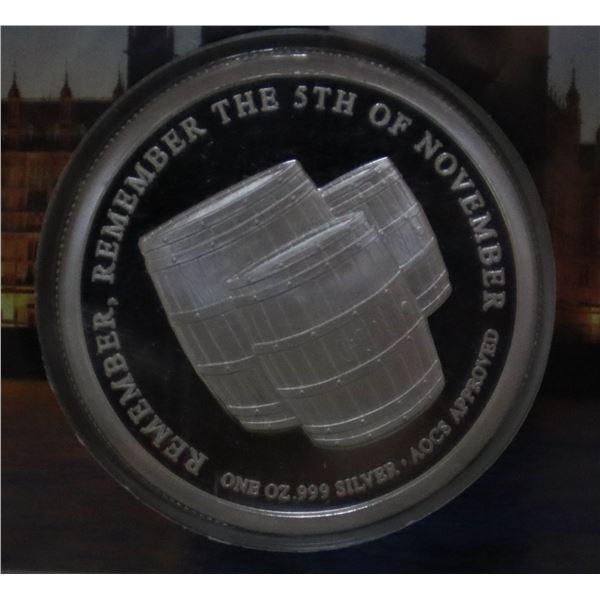 1 OZ .9999 FINE SILVER GUY FAWKES #48/1000