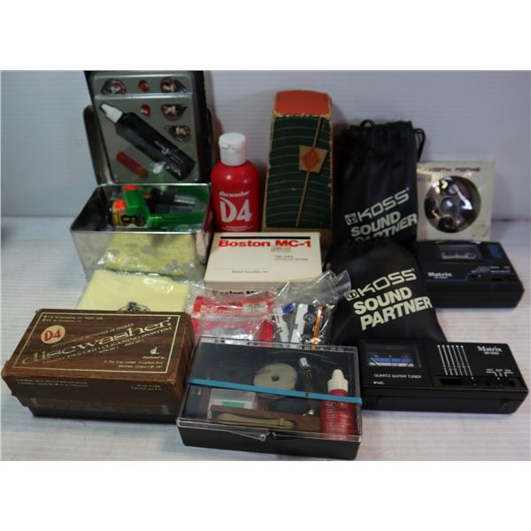 MUSIC LOT - TUNERS/CLEANERS/METRONOME AND MORE