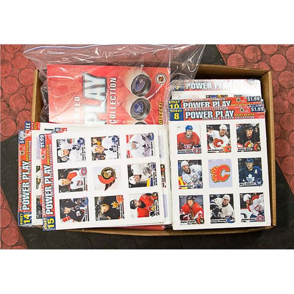 HOCKEY COLLECTORS STICKERS AND BOOKS