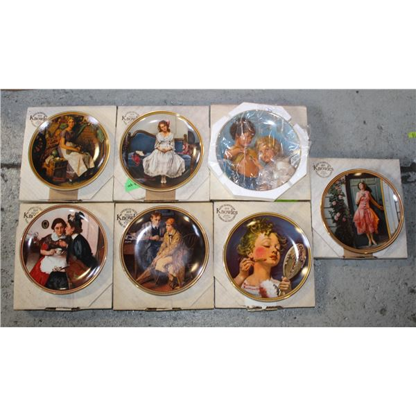 LOT OF 7 NORMAN ROCKWELL COLLECTOR PLATES