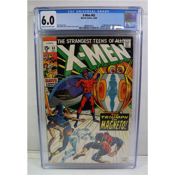 XMEN #63 MARVEL COMICS DECEMBER 1969 NEAL ADAMS