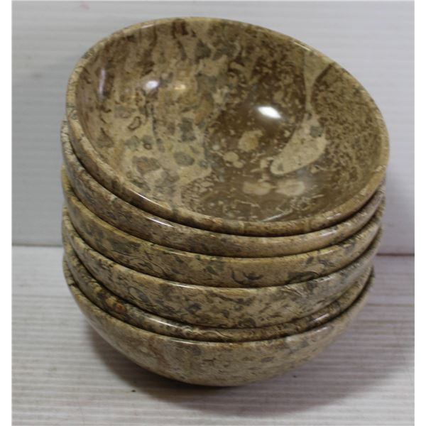 SET OF 6 AFGHANISTAN MOUNTAIN BOWLS