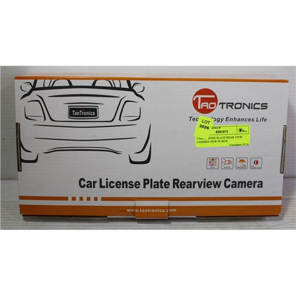 CAR LICENSE PLATE REAR VIEW CAMERA NEW IN BOX