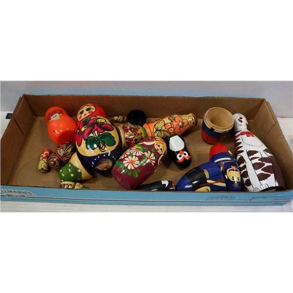 FLAT OF VARIOUS NESTING DOLL SETS