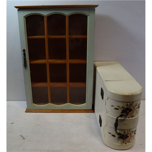 DISPLAY CASE AND FANCY TRUNK