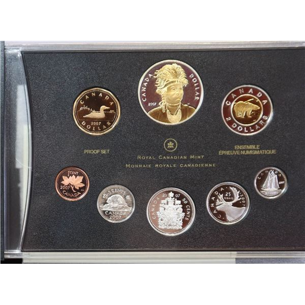 2007 PROOF SET OF CANADIAN CURRENCY
