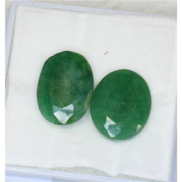 #78-GREEN EMERALD GEMSTONES 19.85ct
