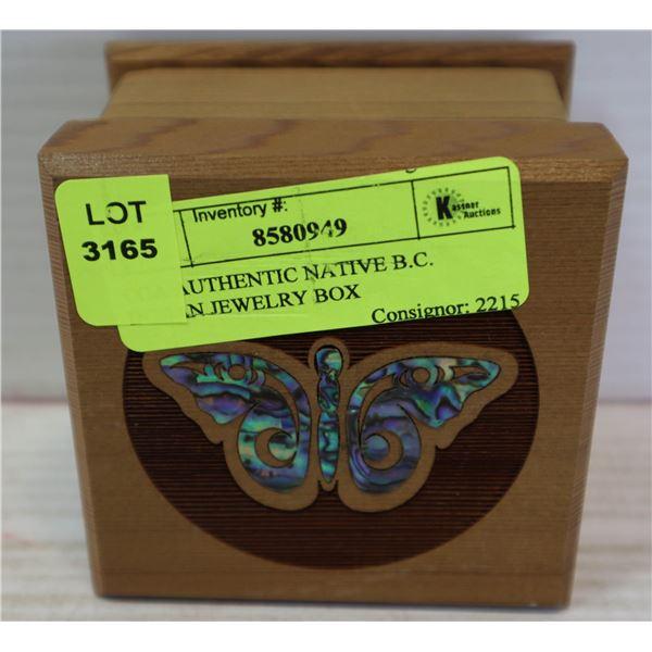 COA AUTHENTIC NATIVE B.C. INDIAN JEWELRY BOX