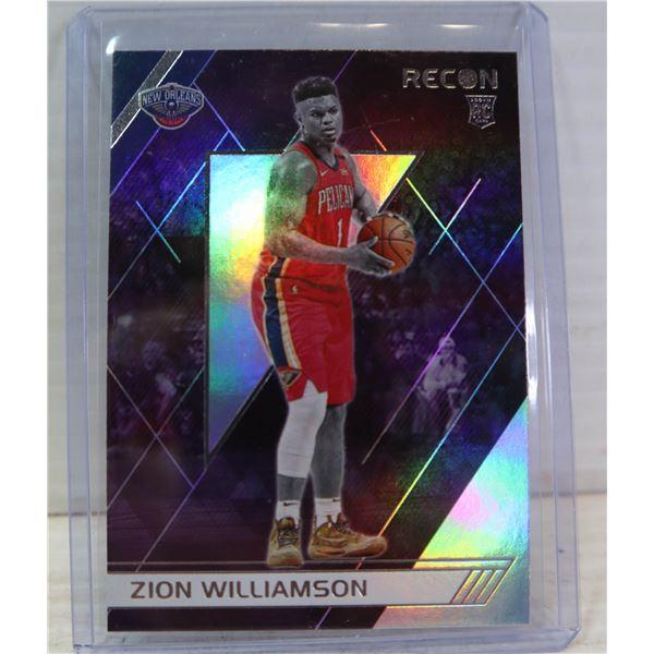 ZION WILLIAMSON RECON ROOKIE CARD