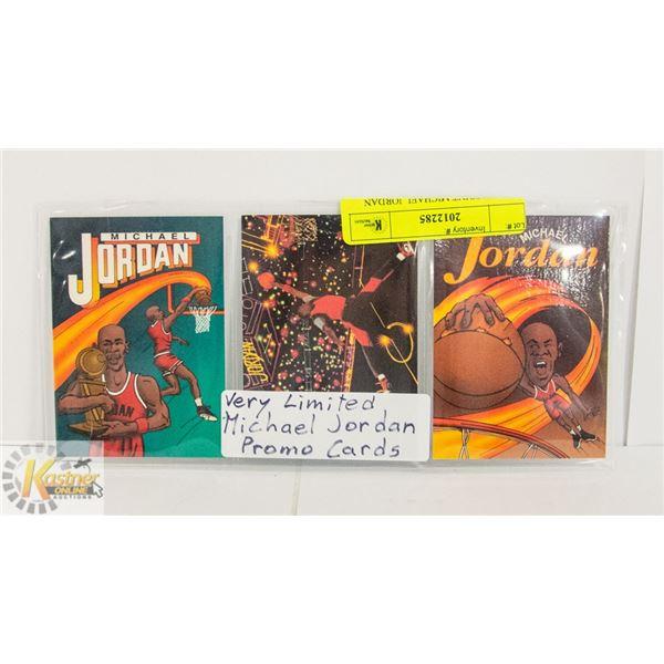 3 X LOW PRINT MICHAEL JORDAN CARDS