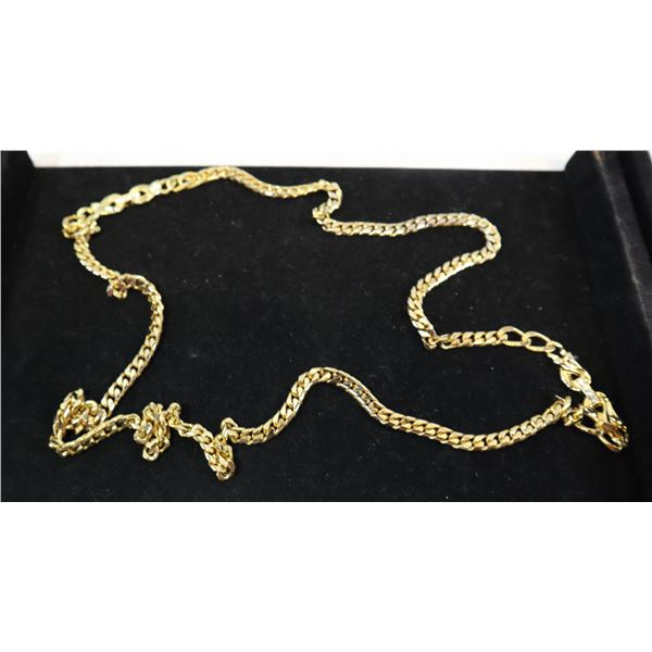 XL GOLD PLATED CHAIN WITH WHITE STONES DESIGN